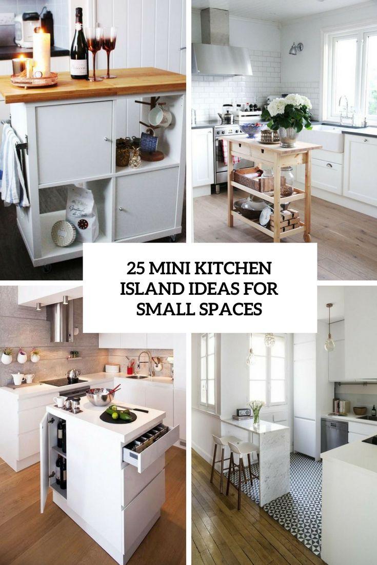 9 idéias de ilha de cozinha Mini para pequenos espaços   Small ...