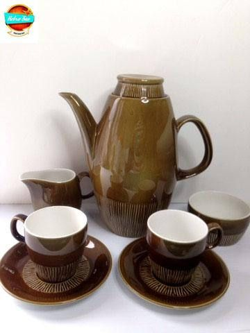 1960's BRITISH ANCHOR Coffee Set Tea Set Strata Cps and