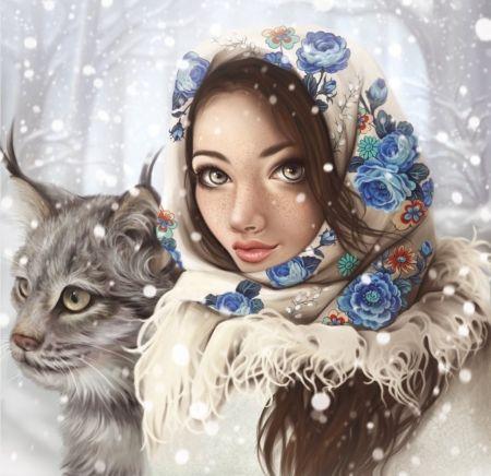 Snow - Kivonat, hölgy, tél, hó