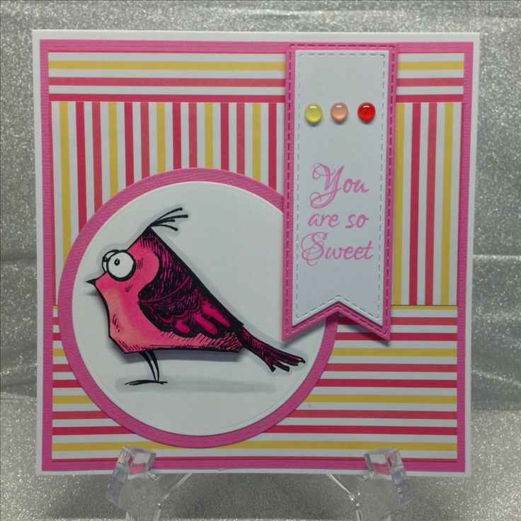 Tim Holtz Bird Crazy Card, Coloured With Spectrum Noir Alcohol Markers Made By -3618