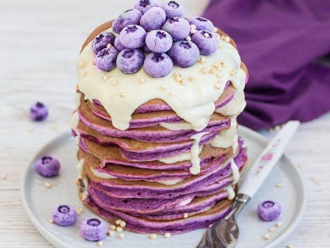 Purple pancake stack – Vegan Food Recipes