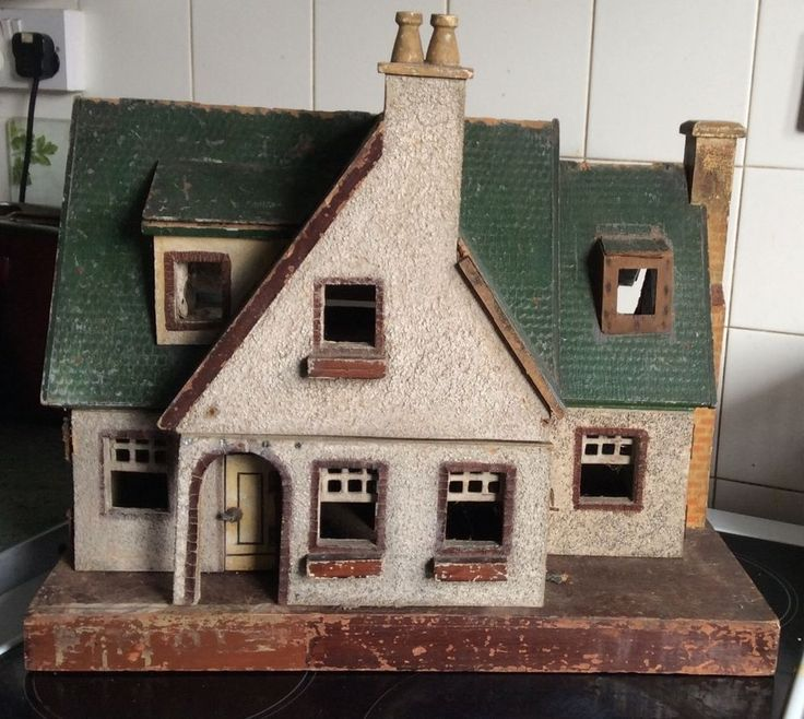 Antique/vintage Wooden Dolls House In Dolls U0026 Bears, Dollsu0027 Miniatures U0026  Houses