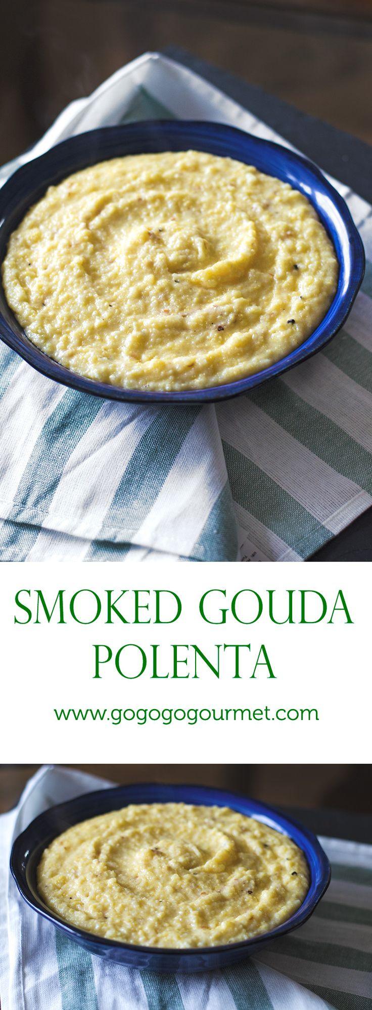 So fast. So easy. So mind-blowing. Smoked Gouda Cheesy Polenta | Go Go Go Gourmet @gogogogourmet