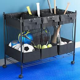 for cary. might be necessary to wrangle sports equipment in garage.  http://www.containerstore.com/shop/giftWrapWonderland/theGiftFinder/forsomeonewhosgotgame?productId=10019116=80665=p_is_available_to_ship%7C1%7C%7Cp_sales_quantity%7C1=y#