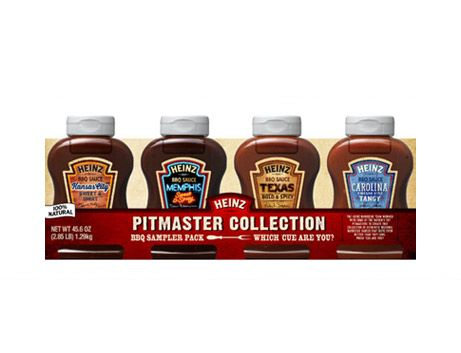 <p>The Heinz barbecue team worked with some of the nation's top pitmasters to create this collection of authentic regional barbecue sauces that taste even better than they look. Which 'cue are you?</p>  <p>See product pages for each sauce for nutritional information.</p>