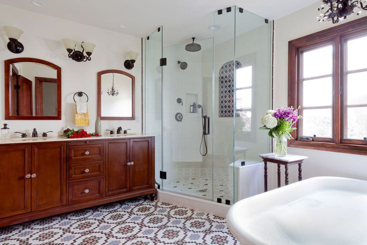 Our Complete Guide To Bathroom Renovations With Images Spanish Style Bathrooms Spanish Style Kitchen Spanish Revival Bathroom