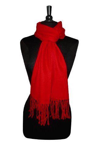 Biagio 100% Wool Pashmina Scarf RED Color Women's Shawl Wrap Biagio. $19.95