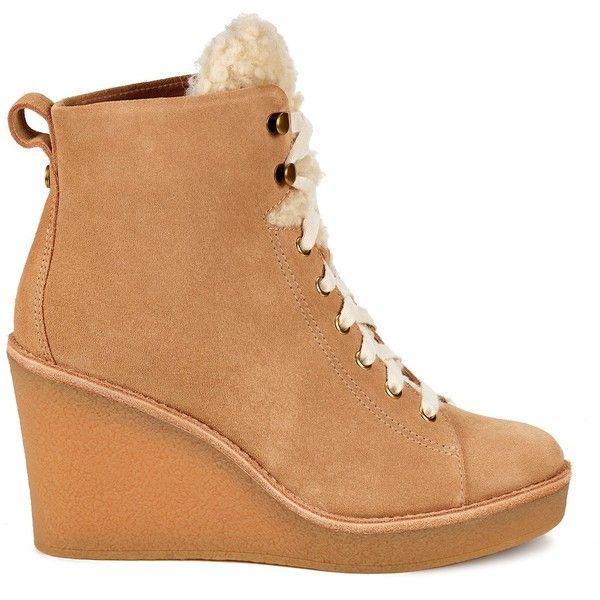 80de72a5f9b UGG Australia Kiernan Genuine Shearling Wedge Boot ($120) ❤ liked ...