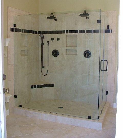 Bathroom showers glass: Bathroom Design, Shower Head, Shower Doors, Bathroom Remodel, Glasses Shower, Bathroom Ideas, Double Shower, Shower Enclosure, Bathroom Shower
