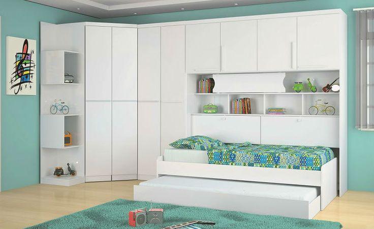 Móveis para Quarto Infantil Modulado Guarda Roupa, Canto  ~ Quarto Planejado Infantil Com Beliche