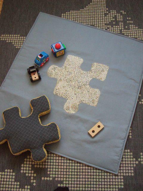 Les coussins puzzle, il fallait y penser!