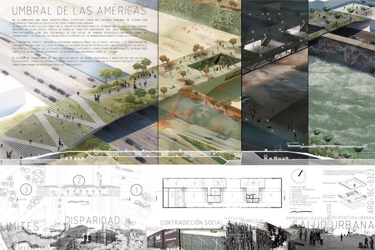 16 Concurso Arquine_Umbral de las Américas - hrbr05's portfolio on archcase