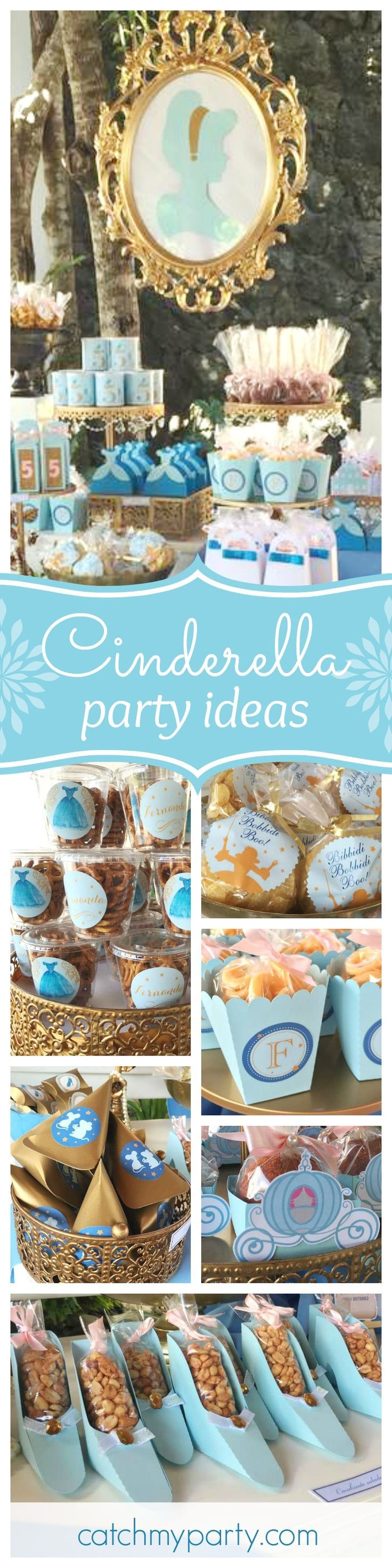Check out this beautiful Cinderella birthday party. You are going to love the dessert table!! See more party ideas and share yours at CatchMyParty.com