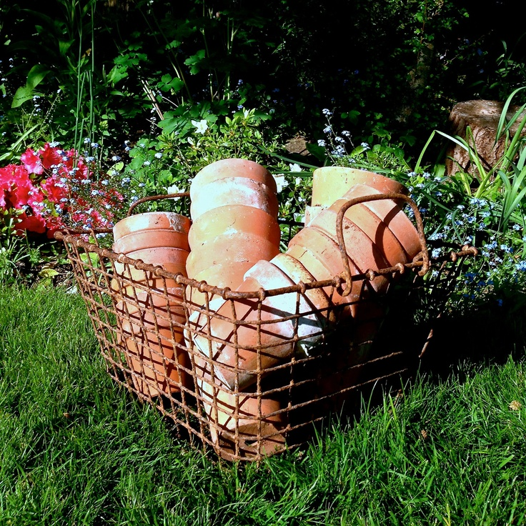Antique French oyster basket www.thecleverhampercompany.co.uk
