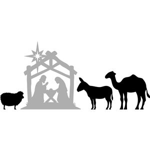 Silhouette Design Store - View Design #34648: christmas nativity (2 of 2)