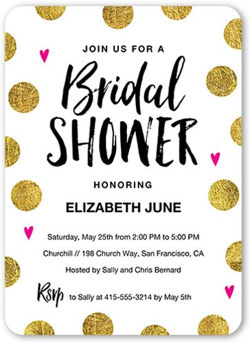 Bridal Shower Invitation: Brilliant Dots, Rounded Corners, Dynamiccolor