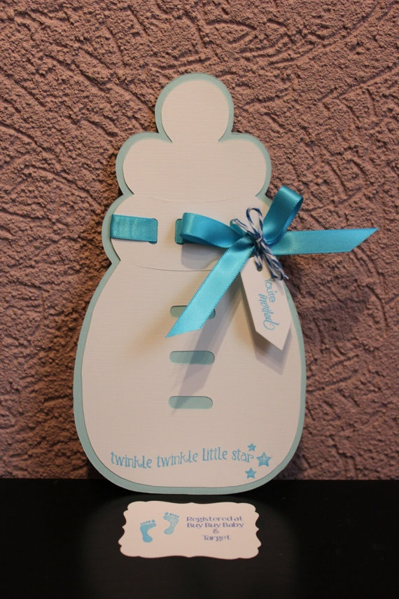 unique homemade baby shower invitation ideas%0A Baby Bottle Baby shower invitation by EmbellishedCouture on Etsy
