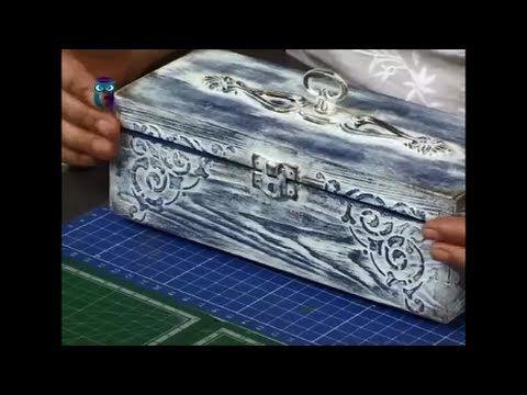 Декупаж. В технике браширования с обжигом декорируем шкатулку. Мастер класс