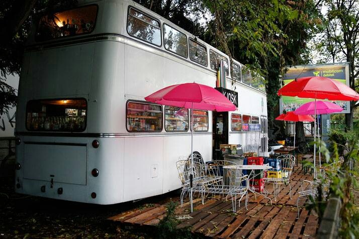 Bus converted to restaurant