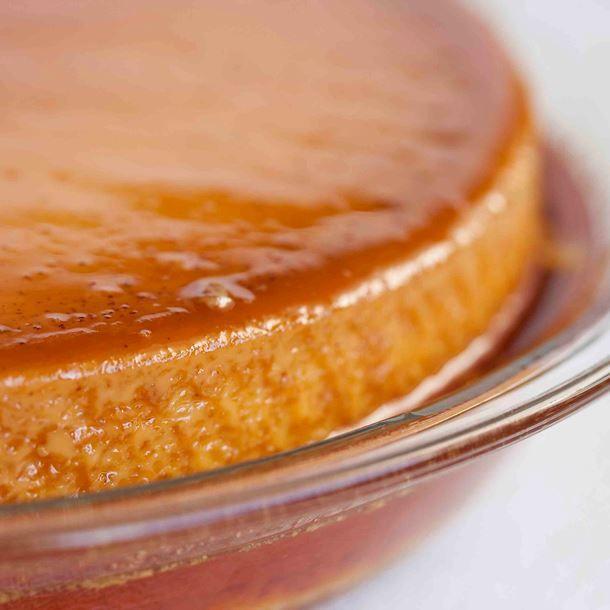 Crème renversée au caramel au sucre vanillé