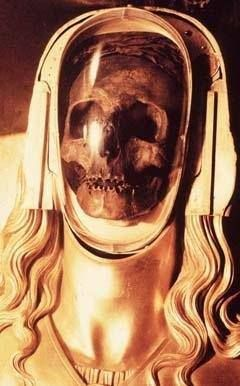 Mary Magdelene in the basilica crypt in St. Maximin in La St. Baume, France.