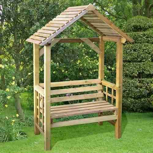 4' x 2' Athena Wooden Garden Arbour - Store More   Shedstore