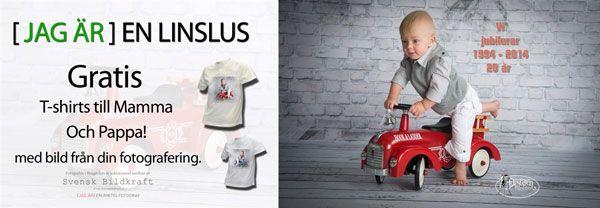 Vi bjuder på T-shirt http://www.takort.nu/Erbjudanden/9-15-manader-skrivut.pdf