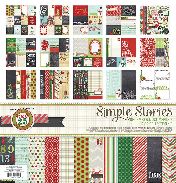 Simple Stories - December Documented Collection - Christmas - 12 x 12 Collection Kit at Scrapbook.com