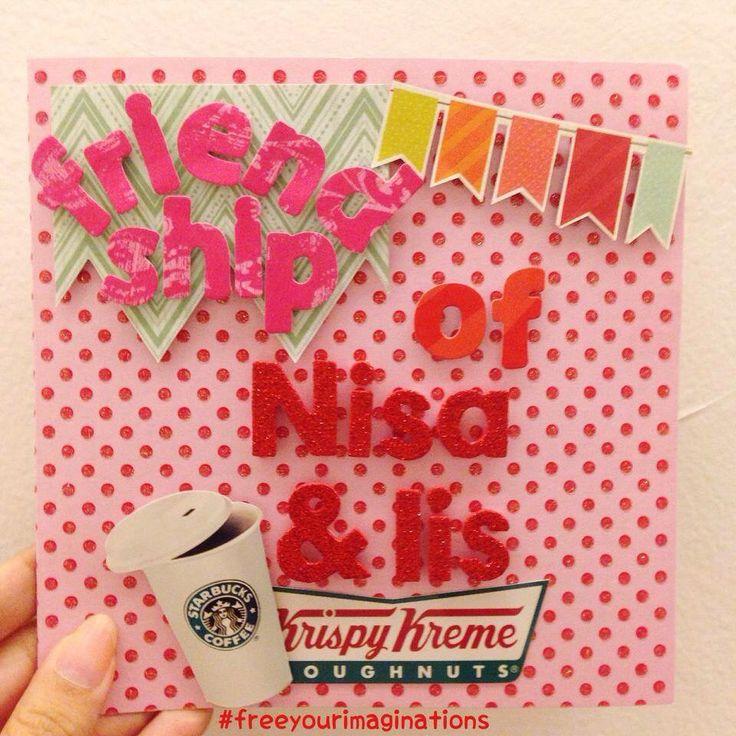 Pink greeting cards for best friend #handmadegift #scrapbook #greetingcards #papercraft #giftideas
