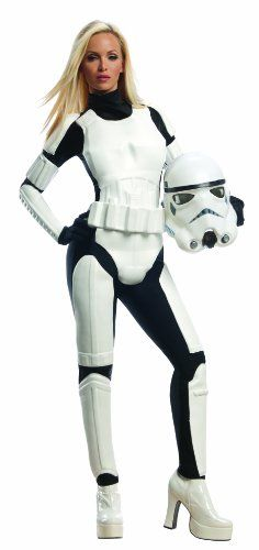 Rubie's Costume Star Wars Female Stormtrooper, White/Black, Large Costume Rubie's Costume Co,http://www.amazon.com/dp/B00BZ62C4U/ref=cm_sw_r_pi_dp_qajetb0RF4Y6WRWC