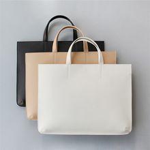 Mulheres homens bolsas pasta do negócio de couro PU sacos de ombro bolsa notebook bolsa para laptop de moda feminina casual black white HB0006(China (Mainland))