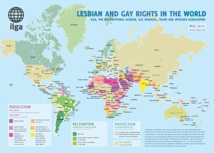 """MAPS: The Best And Worst Places To Live if You're Gay. Proud to live in a """"green"""" country. USA should be ashamed to still be debating this subject."""