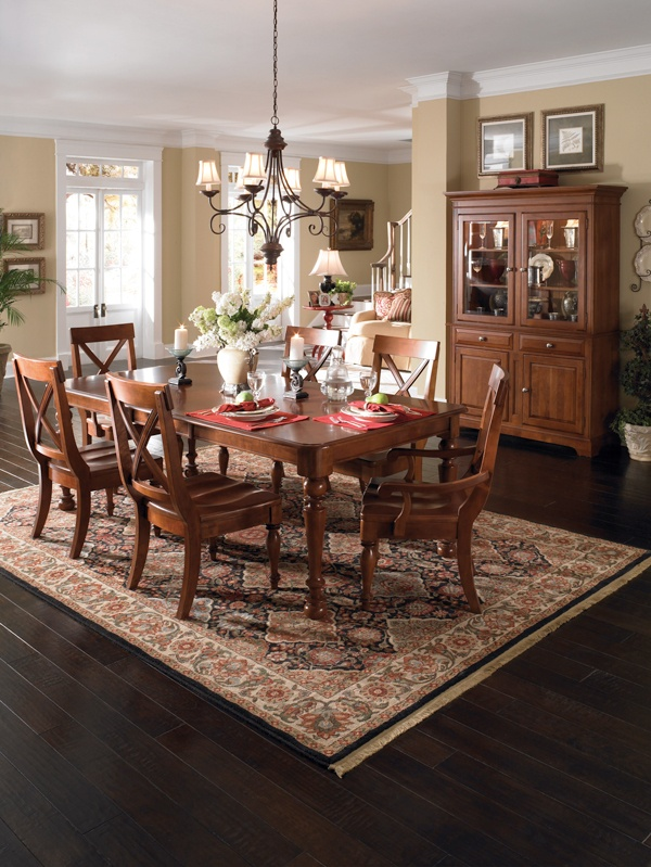 American Journal Traditional Dining Set With Turned Legs By Kincaid Furniture