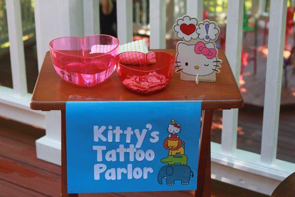 Hello Kitty party games Hello Kitty tattoo parlor
