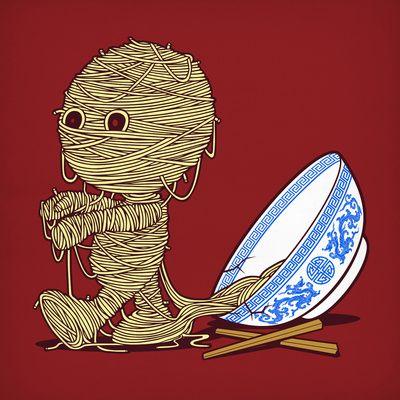 Noodle mummy.