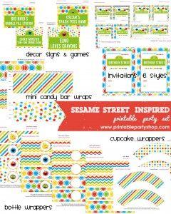Sesame Street Printable Party Set  www.printablepartyshop.com  kids party ideas