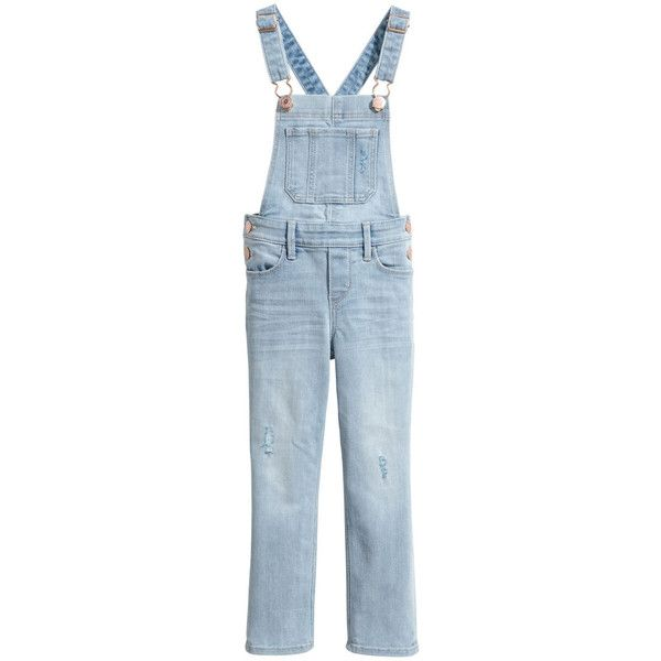 Denim Bib Overalls $29.99 ($30) ❤ liked on Polyvore featuring jumpsuits, overalls jumpsuit, denim overalls, distressed denim overalls, denim jumpsuits and blue overalls