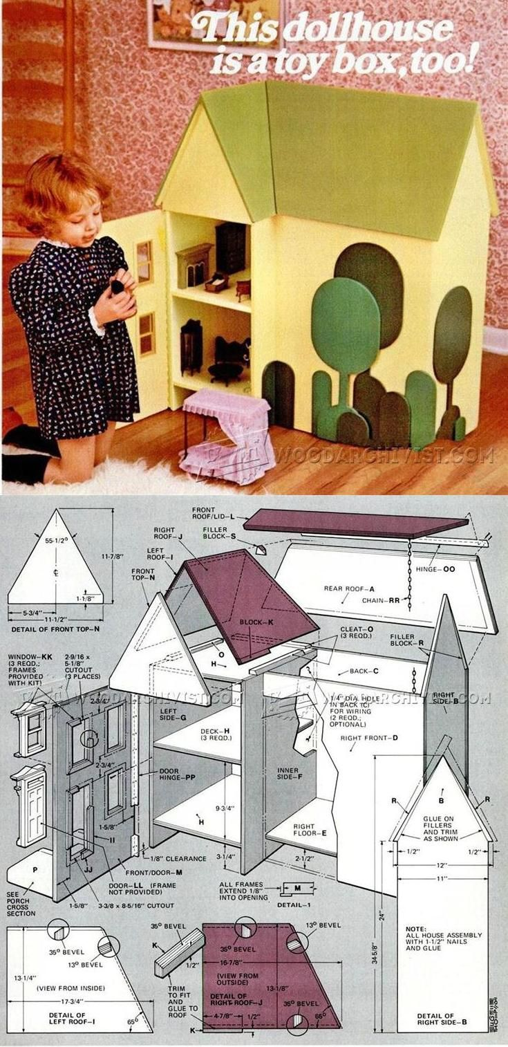Wooden Doll House Plans - Wooden Toy Plans and Projects   WoodArchivist.com