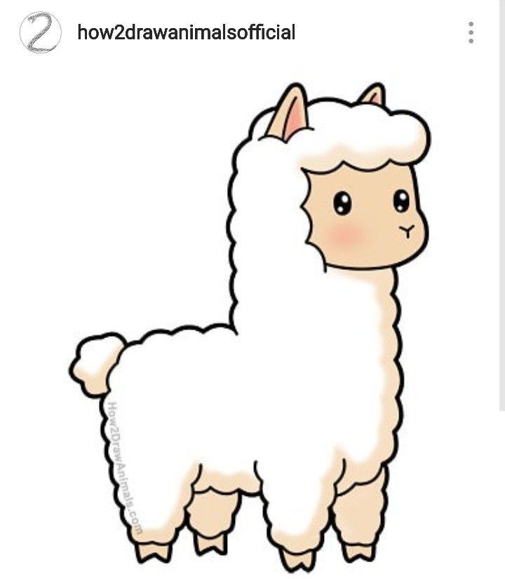 How To Draw A Cartoon Llama Llama Cartoonanimals Cuteanimals