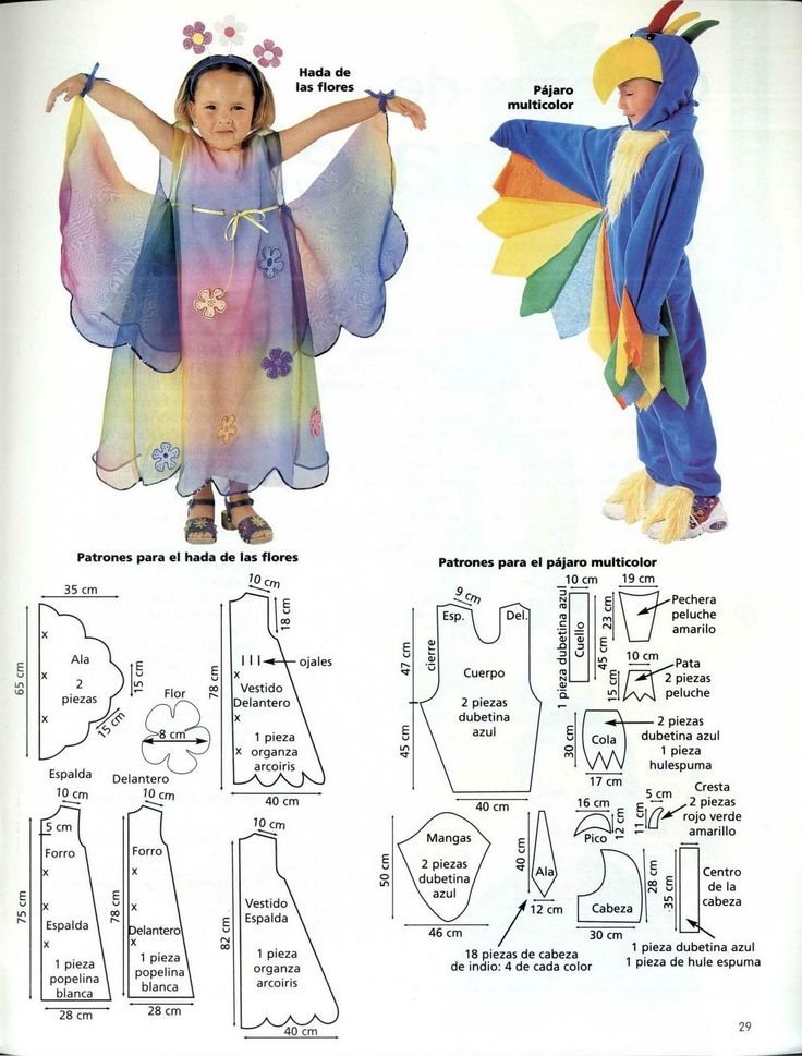 Disfraces por Ana Maria Flecha Patrones de disfraces