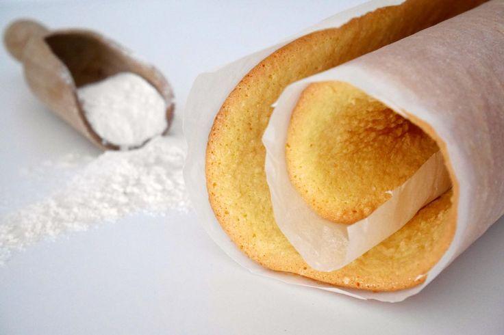 Pasta biscotto (pan di spagna arrotolato)