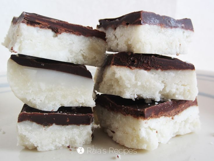 Chocolate Coconut Bars   grain-free, gluten-free, dairy-free, egg-free, refined sugar-free   RaiasRecipes.com