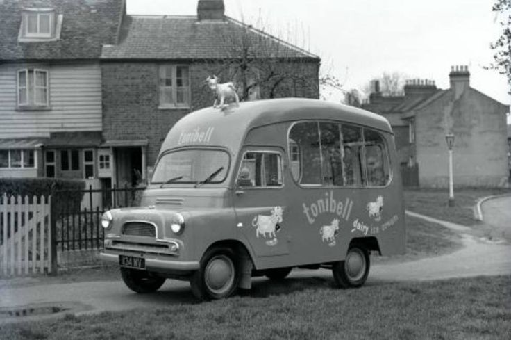 The Tonibell ice cream van with the little cow on the roof - I remember it well...
