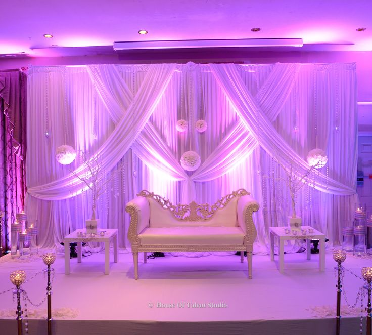 wedding stage decoration pics%0A Wedding Tip      It u    s a white wedding  An all white stage creates an