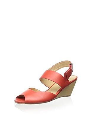 50% OFF Matiko Women's Greta Ankle Strap Wedge Sandal (Red)