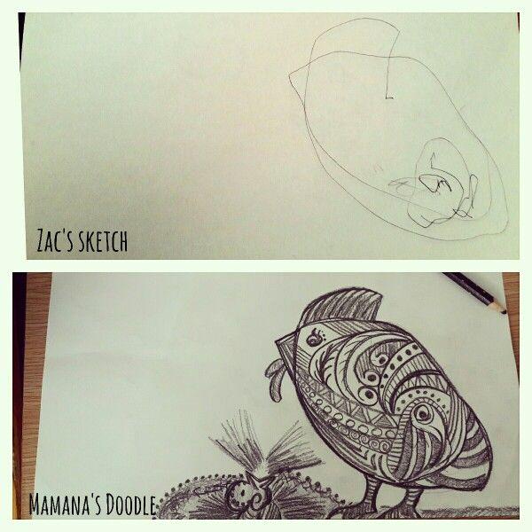 Re-sketch my son's doodle