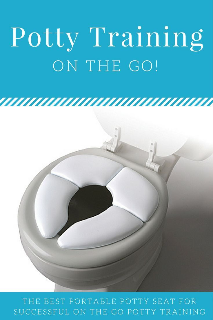 Successful potty training on the go starts with a comfy seat that fits their bum. Check out my favorite portable potty seat, perfect to fold up and toss in our bag to use when its needed! Help make your child more confident to go, when not at home! #affflink