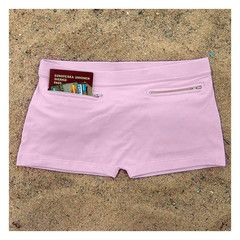 Via Brave New Traveler. Underwear with pockets. Travel garb, could be used in lieu of a travel belt.