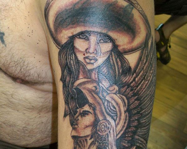 warrior faces tattoos