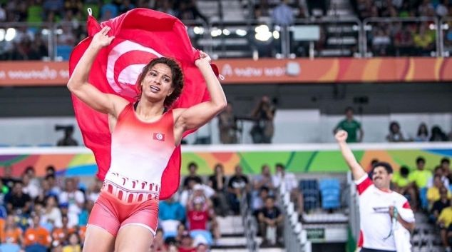 Marwa Amri earned Tunisia's first medal in women's wrestling at the Olympic Games Rio 2016